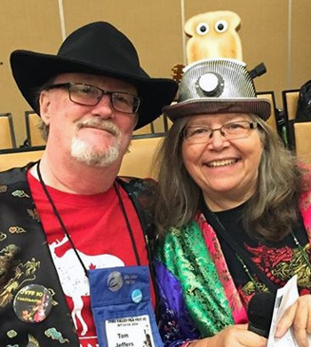 Tom and Sue at OVFF as toastmasters